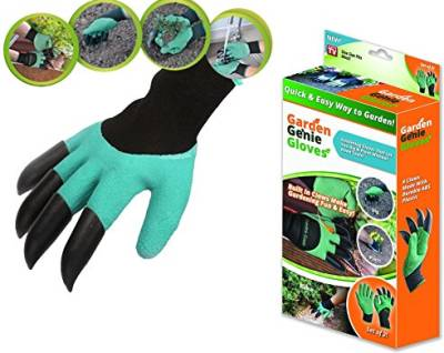 Garden Genie   Dig without Tools   As Seen on TV   Gardening Gloves   Garden Products
